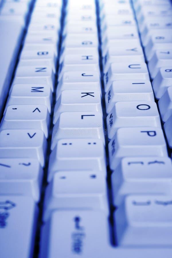 Teclado do PC, close-up imagens de stock