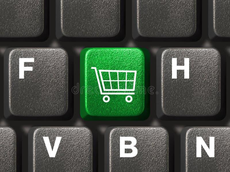 Teclado do PC com chave da compra imagem de stock royalty free