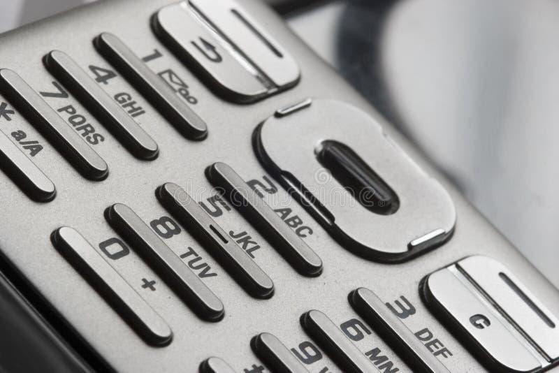 Teclado do telefone imagem de stock