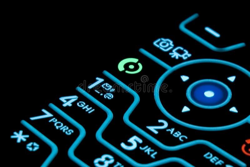 Teclado do telefone de pilha imagens de stock