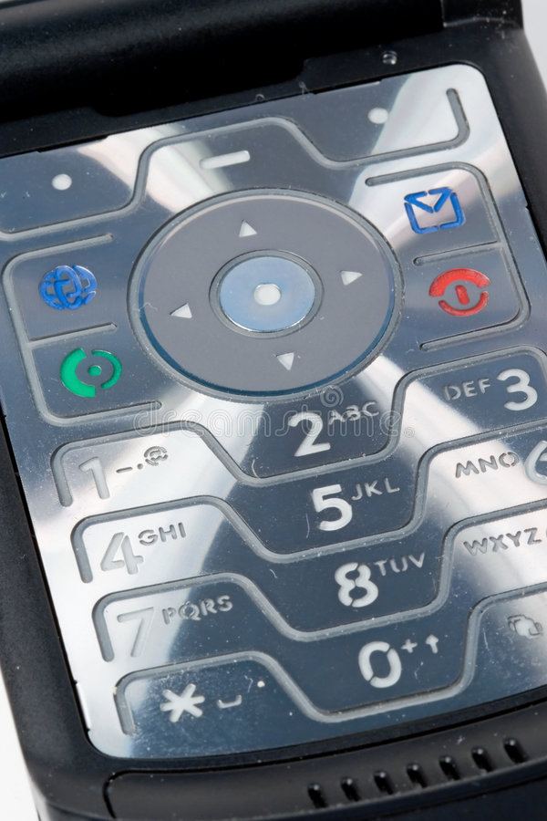 Teclado do telefone móvel fotos de stock royalty free