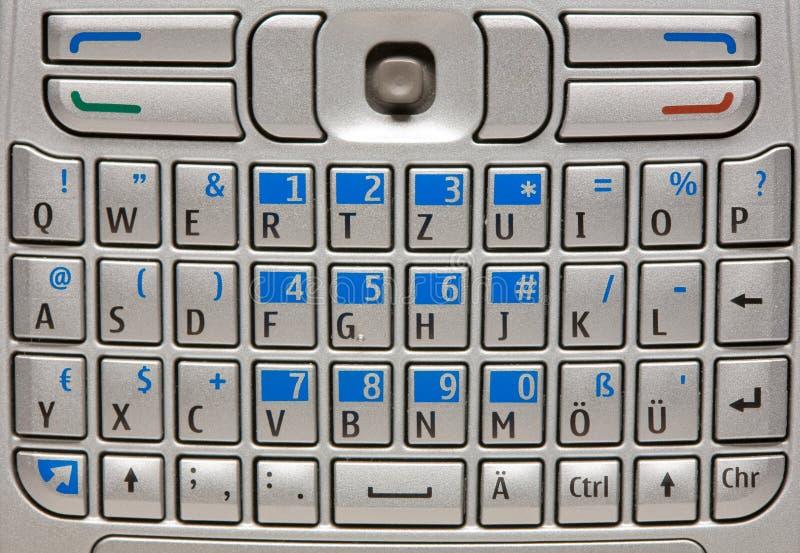 Teclado do telefone móvel. imagens de stock royalty free