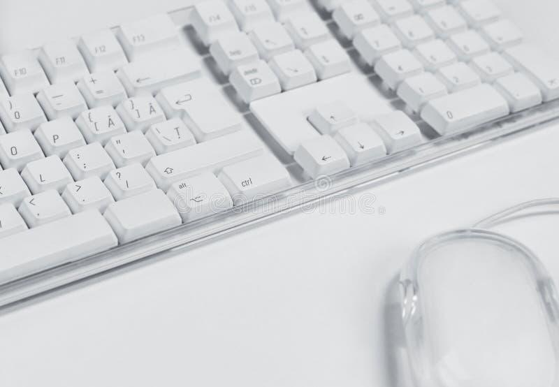 Teclado e rato de computador imagem de stock