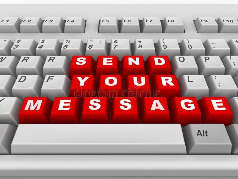 Teclado. Envíe su mensaje libre illustration
