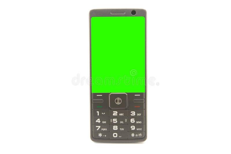 Teclado numérico do telefone celular isolado no fundo branco com trajeto de grampeamento fotos de stock royalty free