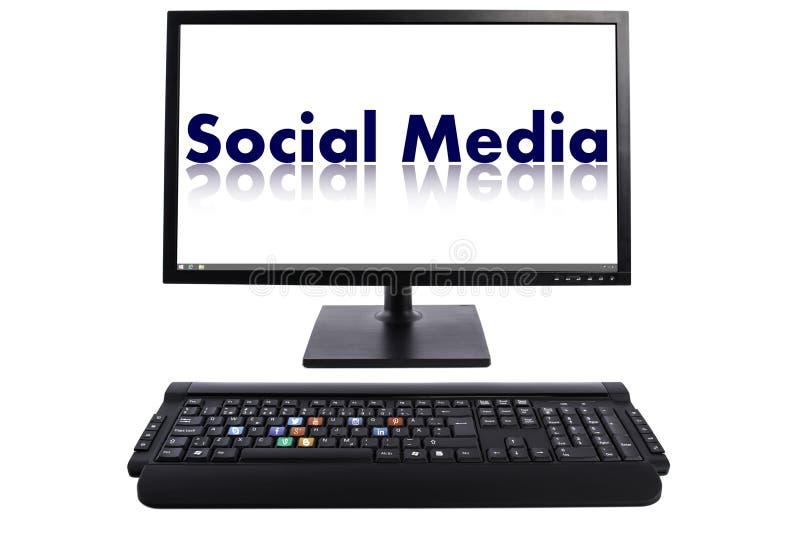 Teclado social dos meios fotos de stock royalty free
