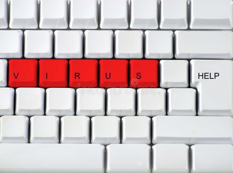 Teclado - Vírus Chave Vermelho, Clos Fotos De Stock