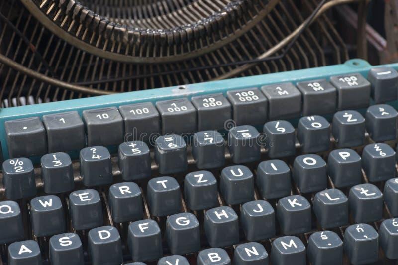 Teclado viejo del typewritter imágenes de archivo libres de regalías