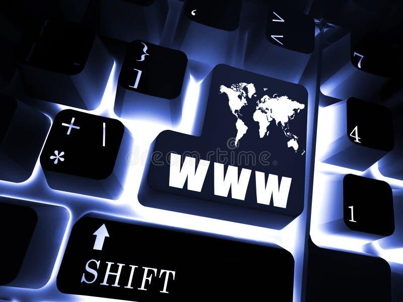 teclado WWW ilustração stock