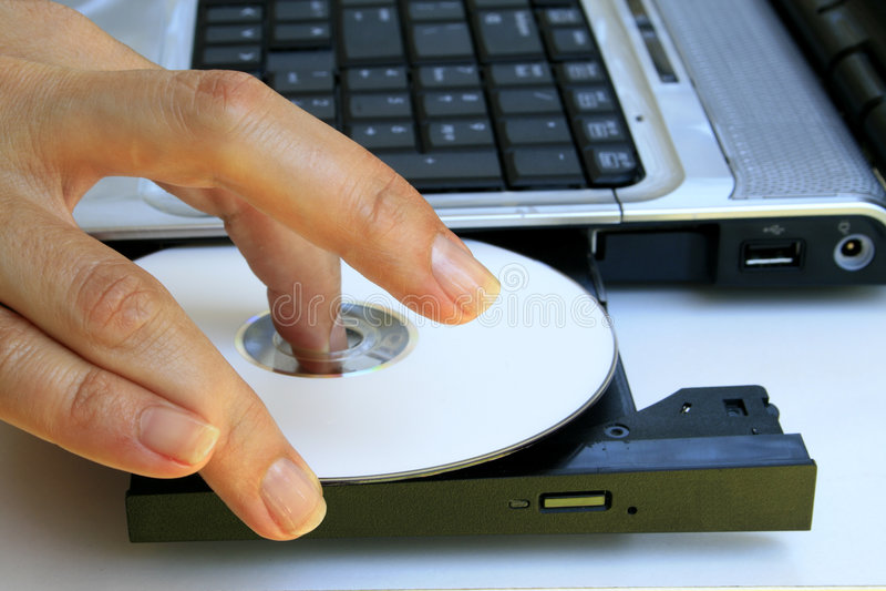 Teclado y mecanismo impulsor CD fotos de archivo