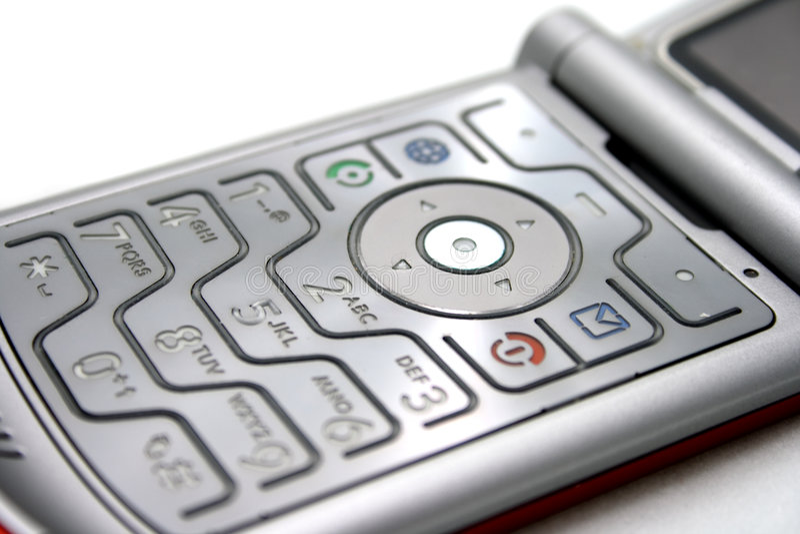 Teclados do telemóvel fotos de stock
