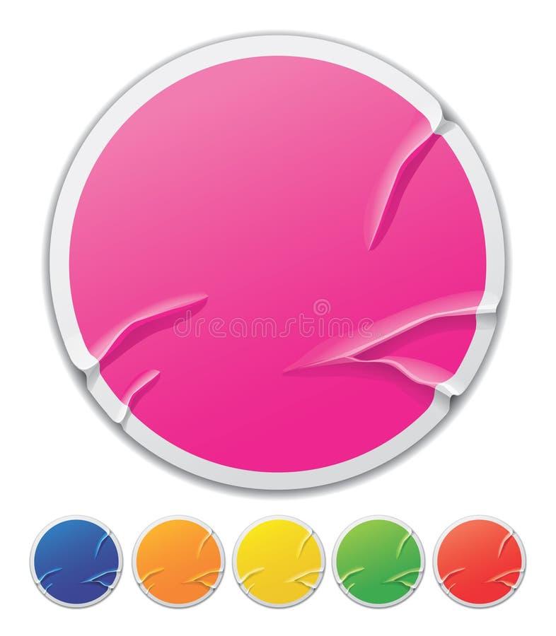Teclas circulares coloridas ilustração stock