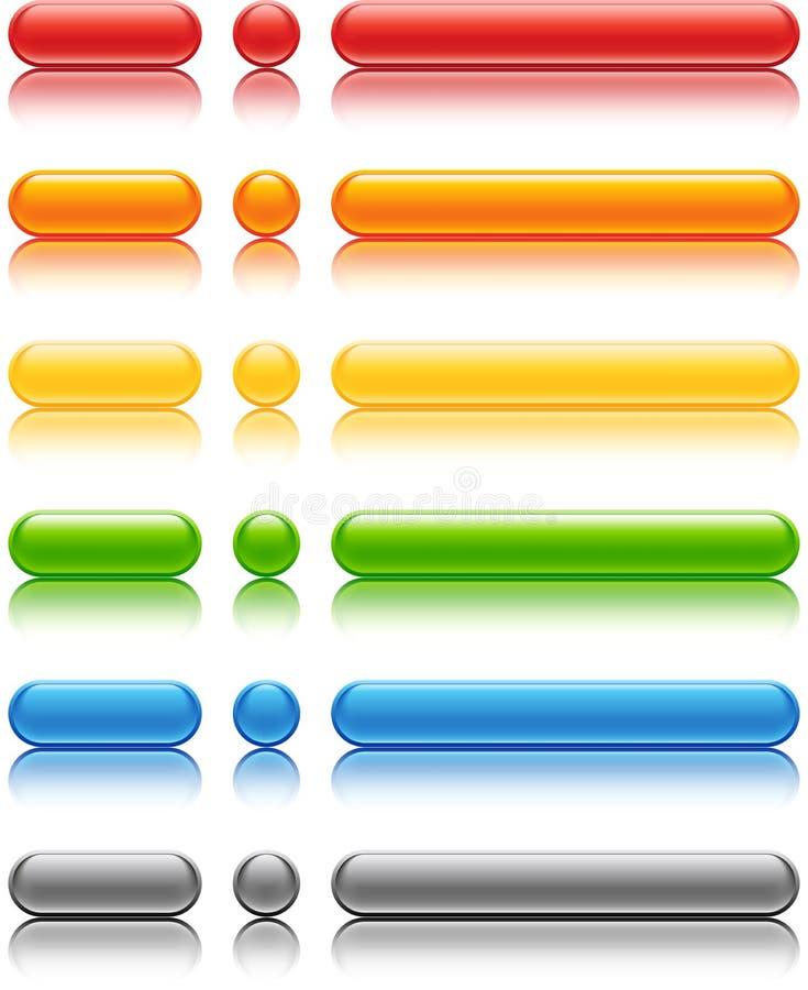Teclas coloridas ilustração do vetor