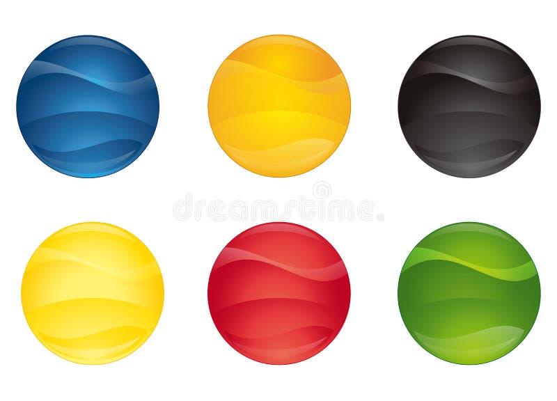 Teclas coloridas 3 ilustração stock
