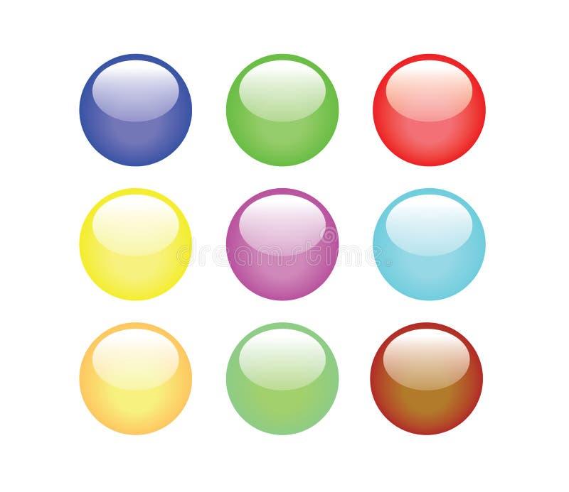 Teclas coloridas ilustração stock
