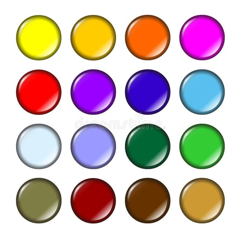 Teclas coloridas divertimento ilustração royalty free