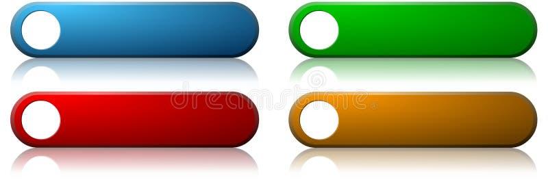 Teclas coloridas do Web ilustração do vetor