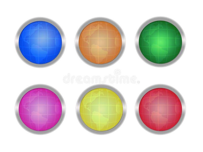 Download Teclas com globos ilustração stock. Ilustração de forma - 12812245