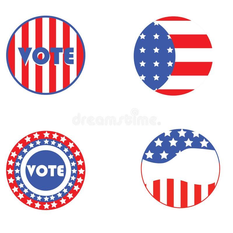 Teclas da eleição dos EUA ilustração stock