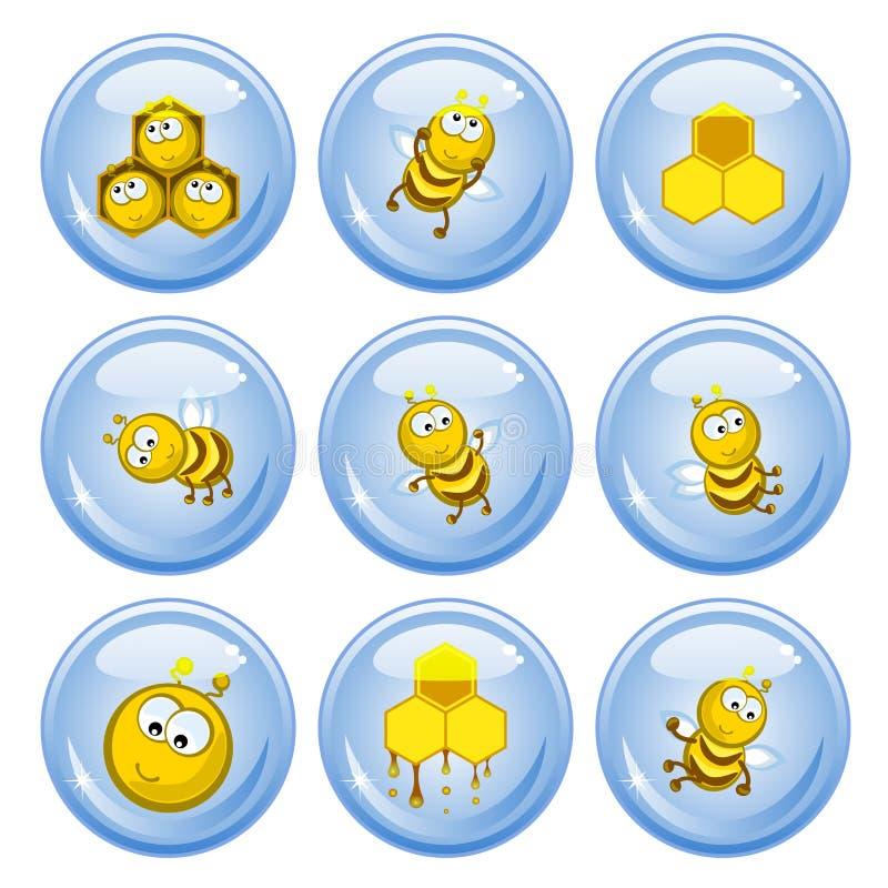 Teclas das abelhas ilustração do vetor