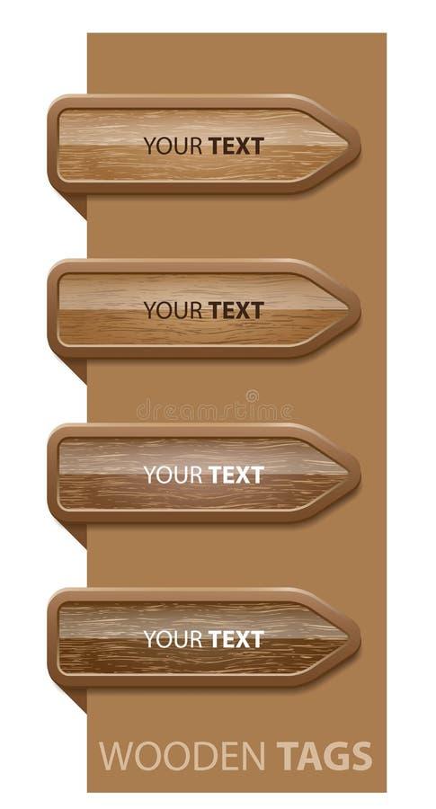 Teclas de canto de madeira, editable fácil ilustração do vetor