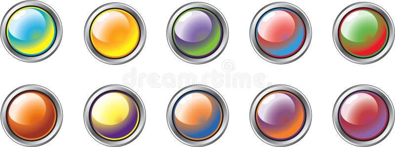 Teclas diferentes 1 da cor ilustração royalty free