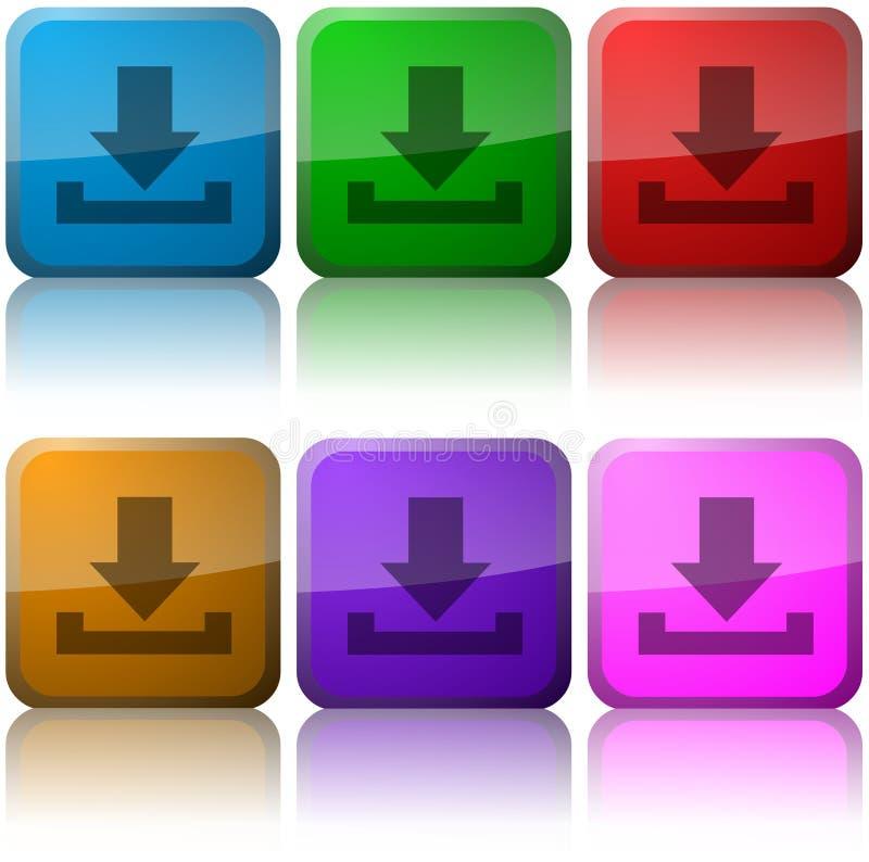 Teclas do ícone do Download ilustração royalty free