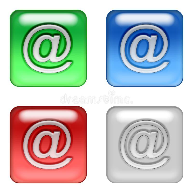 teclas do correio do Web ilustração stock