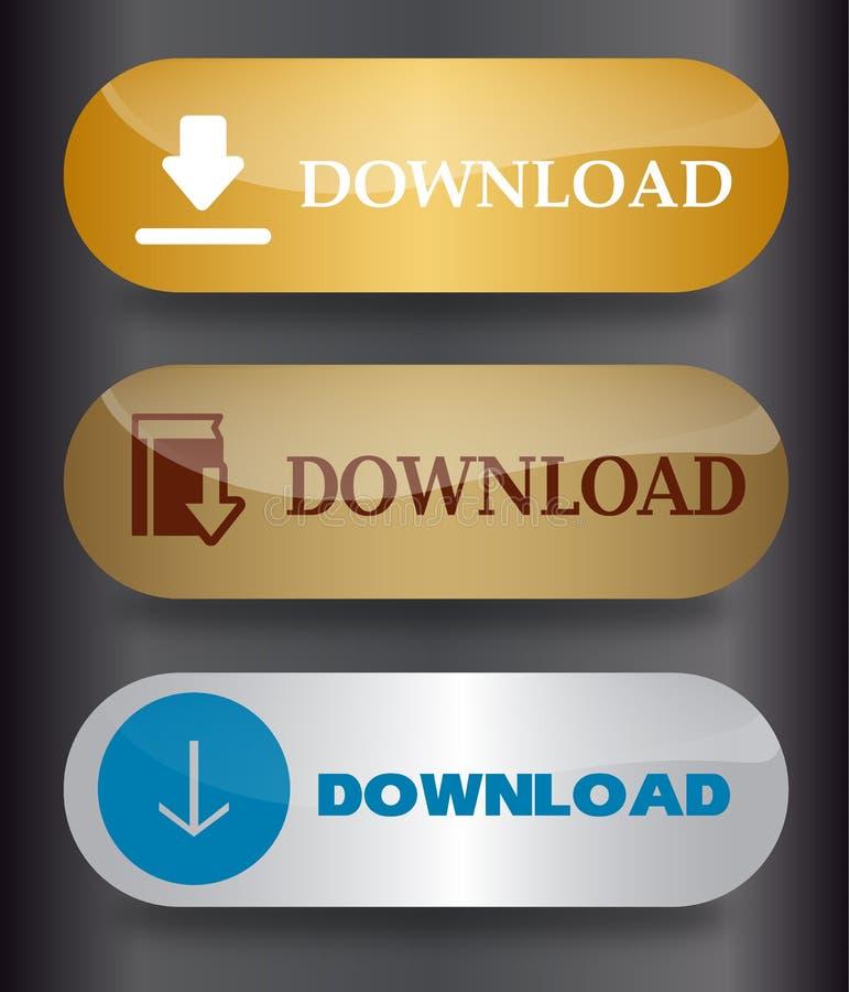 Teclas do Download ilustração do vetor