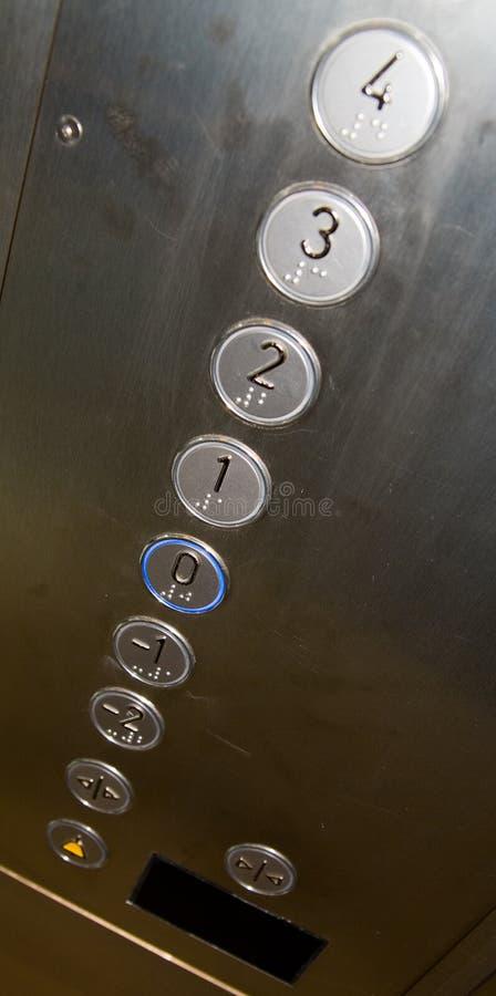 Teclas do elevador foto de stock