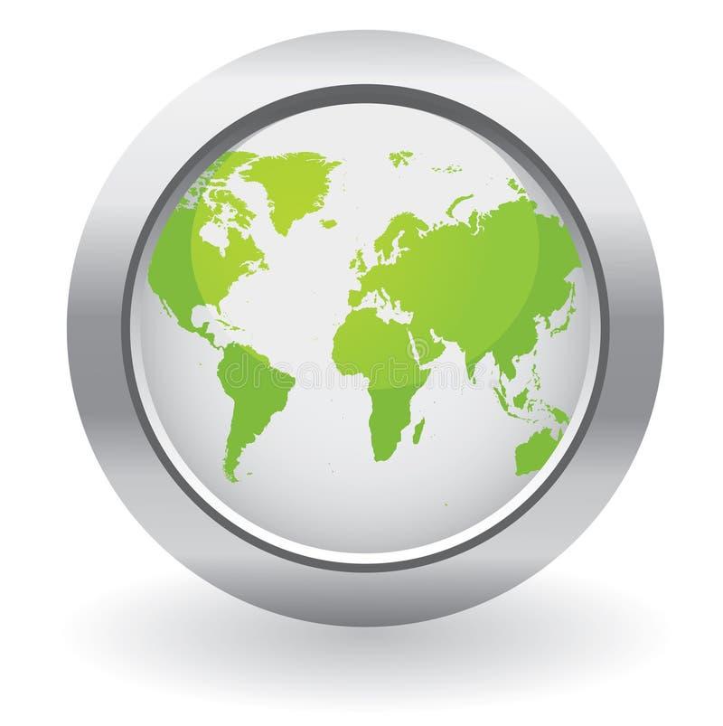 Teclas do globo da ecologia ilustração royalty free