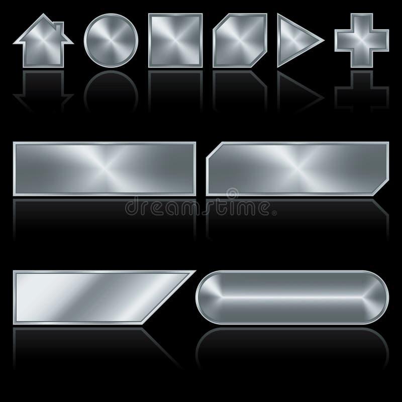 Teclas do metal ilustração do vetor