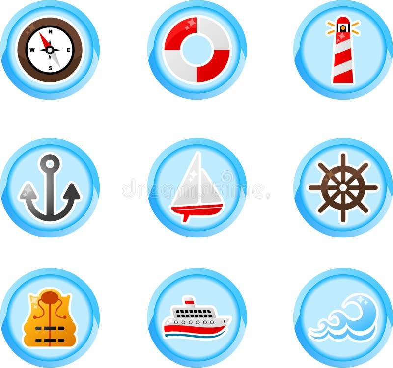 Teclas do porto ilustração royalty free