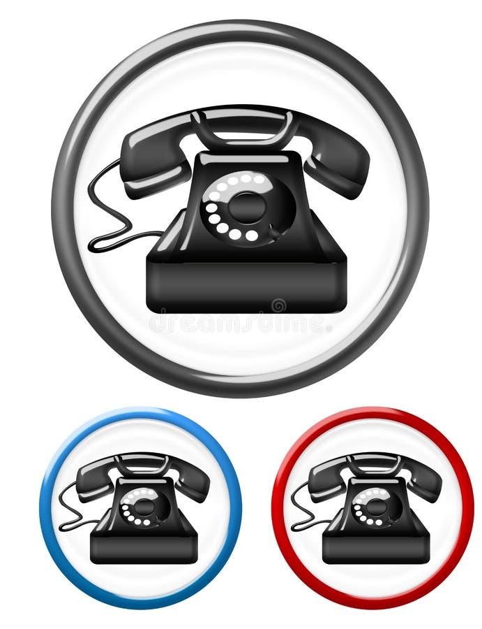 Teclas do telefone ilustração do vetor
