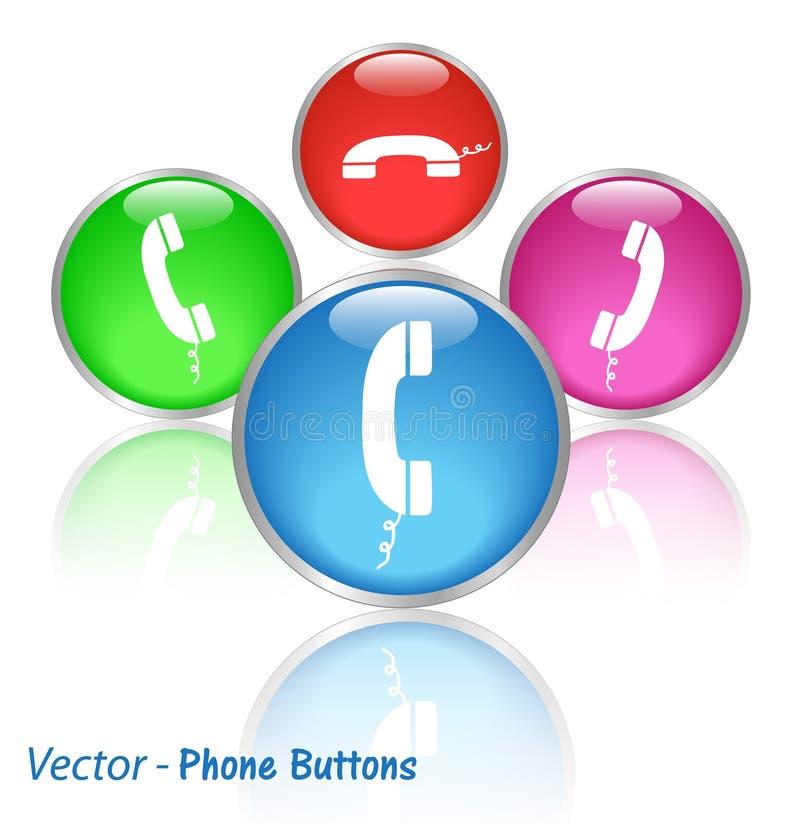 Teclas do telefone ilustração royalty free