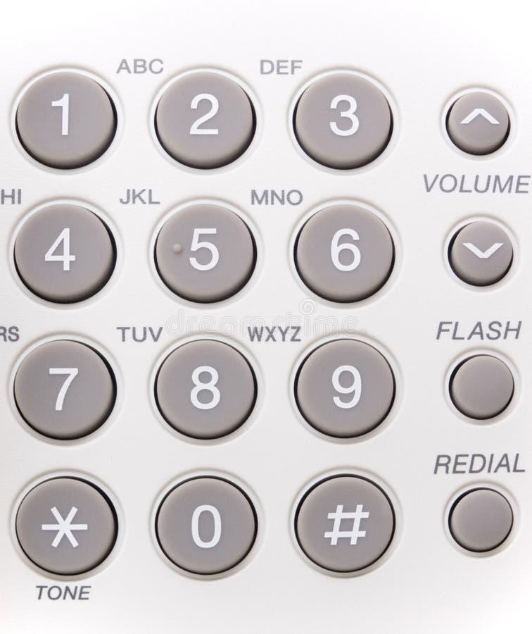Teclas do telefone imagens de stock