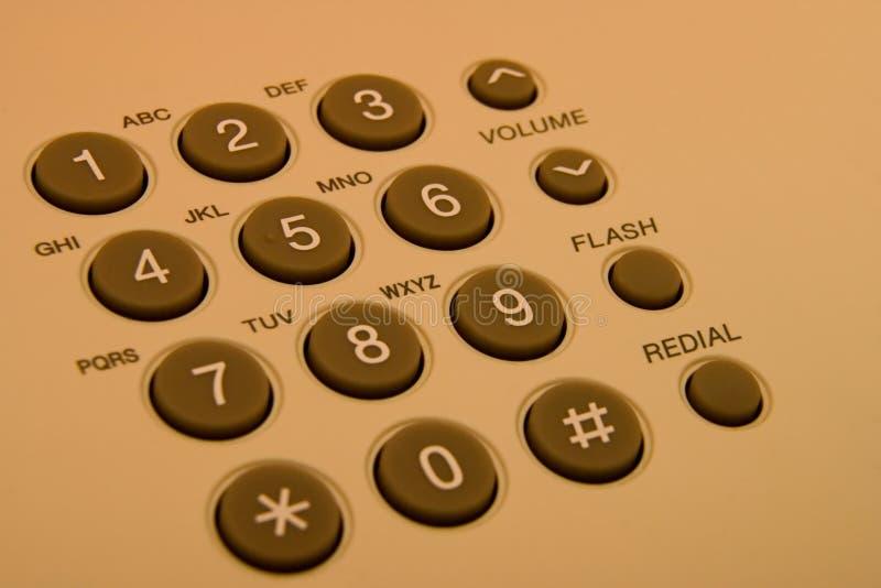 Teclas do telefone fotografia de stock