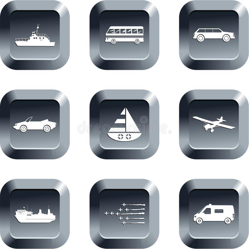 Teclas do transporte ilustração royalty free