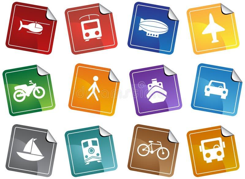 Teclas do transporte - etiqueta ilustração do vetor