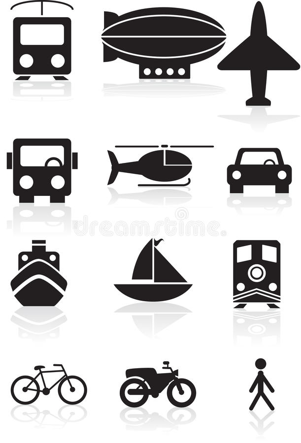 Teclas do transporte - preto e branco ilustração stock