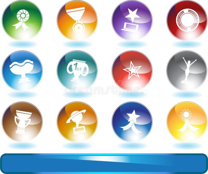 Teclas do troféu - redondas ilustração royalty free