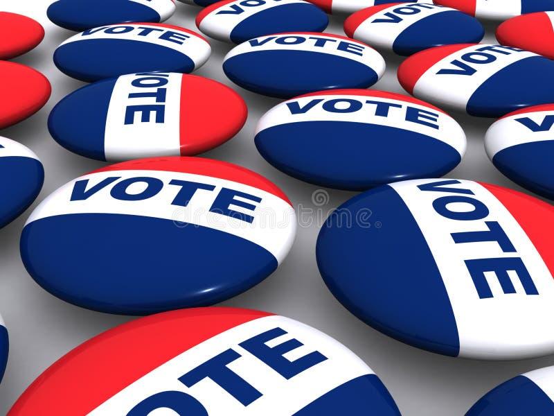Teclas do voto ilustração stock