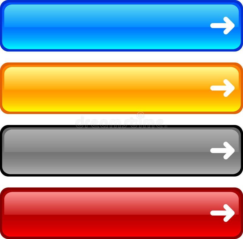 Teclas do Web. ilustração do vetor
