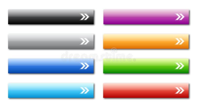 Teclas do Web ilustração do vetor