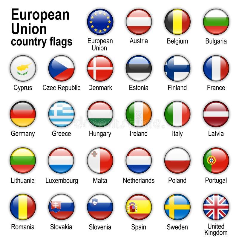 Teclas do Web da bandeira ilustração stock