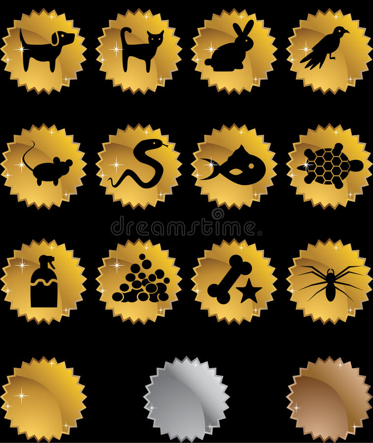Teclas do Web do animal de estimação - selo ilustração royalty free