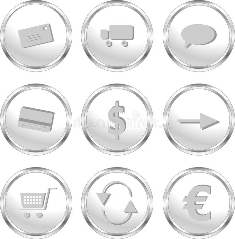 Teclas do Web para a loja/comércio electrónico do Web ilustração royalty free