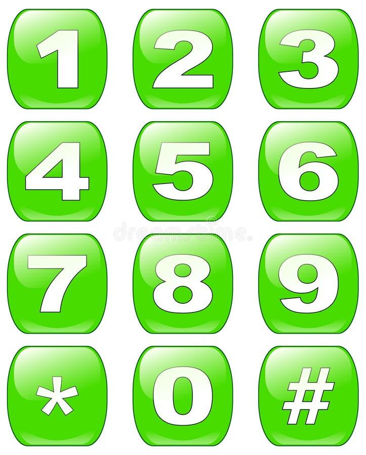 Teclas dos números ilustração stock