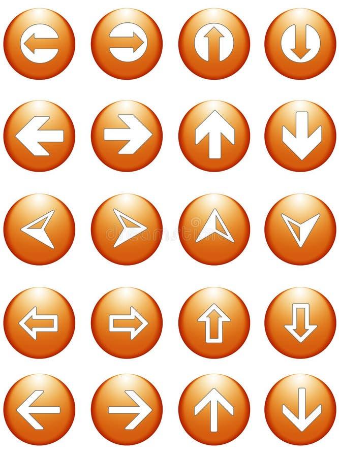Teclas dos símbolos da seta do negócio ilustração do vetor