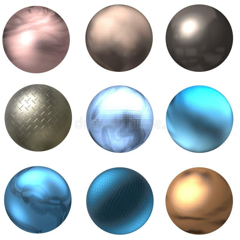 Teclas e esferas brilhantes do Web ilustração stock